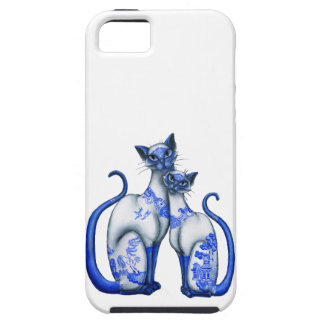Blue Willow Siamese Cats iPhone 5 Cases