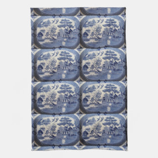 Blue Willow Tea Towel - let grandma in the Kitchen