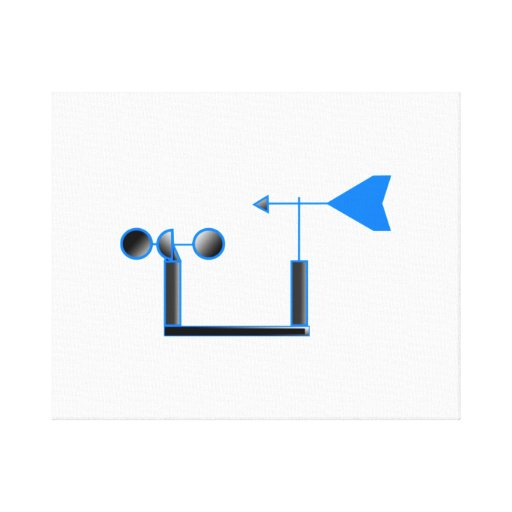 Blue Wind Speed and Weather Vane Stretched Canvas Prints