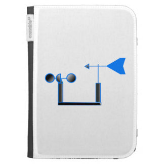 Blue Wind Speed and Weather Vane Kindle 3 Cover
