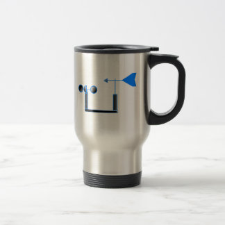Blue Wind Speed and Weather Vane Mugs