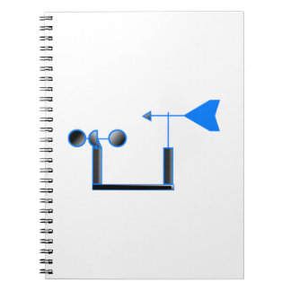 Blue Wind Speed and Weather Vane Spiral Note Books
