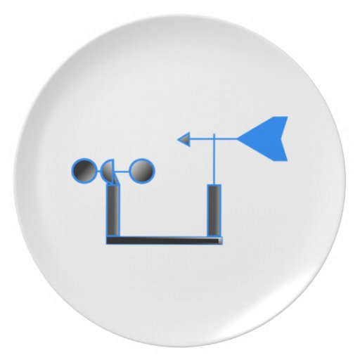 Blue Wind Speed and Weather Vane Plates