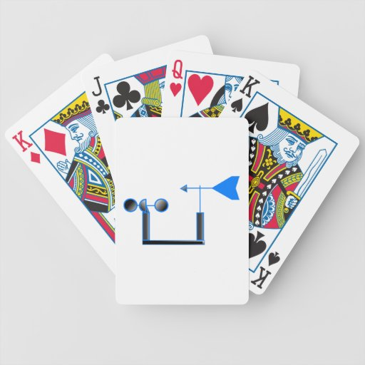 Blue Wind Speed and Weather Vane Card Deck