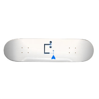 Blue Wind Speed and Weather Vane Skate Board Deck
