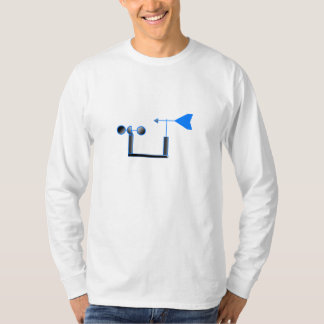 Blue Wind Speed and Weather Vane T-Shirt