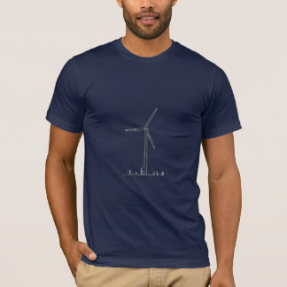 Blue Wind Turbine_8036 T-Shirt