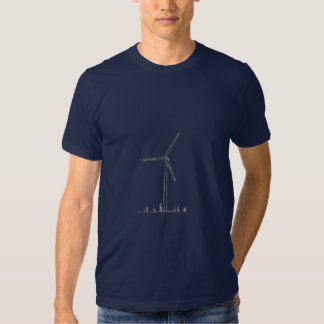 Blue Wind Turbine_8036 Tshirts