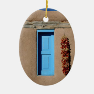 Blue Window of Taos Ceramic Ornament