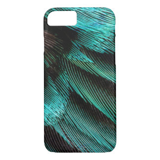 Blue Wing Covert feathers iPhone 8/7 Case