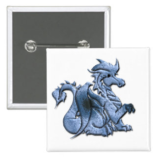Blue Winged Dragon Button