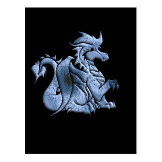 Blue Winged Dragon Postcard