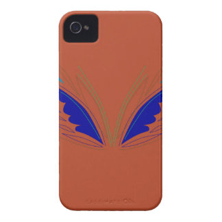 Blue wings on brown iPhone 4 cover