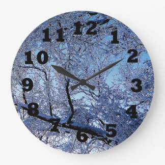 Blue Winter Clocks