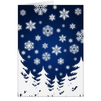 Blue Winter Landscape - card