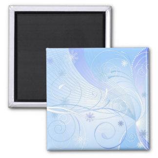 blue winter magnet