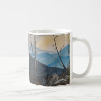 Blue Winter Mountain Two Sided Mug