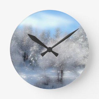 Blue Winter Sky Wallclock