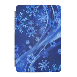 Blue Winter Snowflakes Christmas iPad Mini Cover