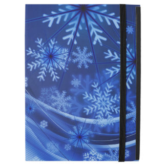 "Blue Winter Snowflakes Christmas iPad Pro 12.9"" Case"