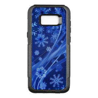 Blue Winter Snowflakes Christmas OtterBox Commuter Samsung Galaxy S8+ Case