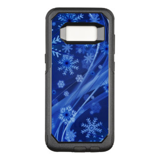 Blue Winter Snowflakes Christmas OtterBox Commuter Samsung Galaxy S8 Case