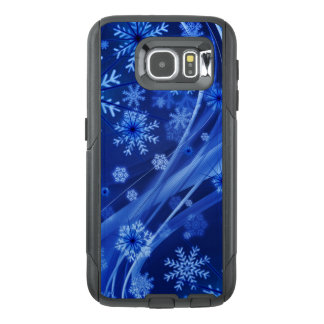 Blue Winter Snowflakes Christmas OtterBox Samsung Galaxy S6 Case