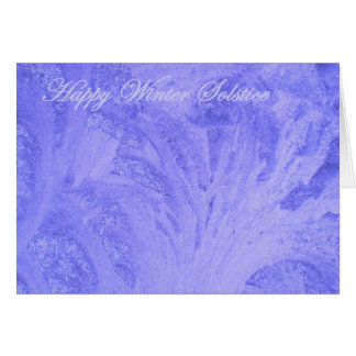 Blue Winter Solstice Greeting Card