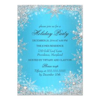 Blue Winter Wonderland Christmas Holiday Party 11 Cm X 16 Cm Invitation Card