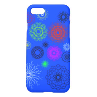 blue with different pattern iPhone 7 case