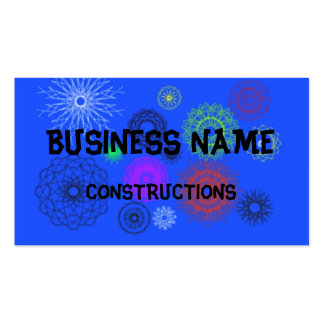 blue with different pattern pack of standard business cards