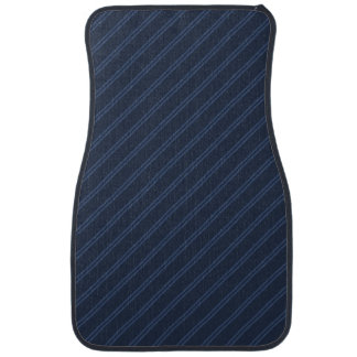 Blue with Double Pin Stripes Front Car Mat
