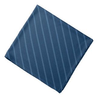 Blue with Thin Light Diagonal Stripes Bandana