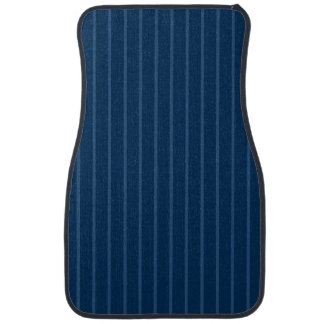 Blue with Thin Light Stripes Front Car Mat