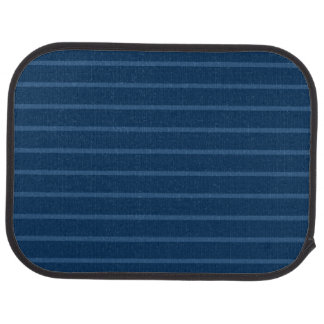 Blue with Thin Light Stripes Rear Car Mat