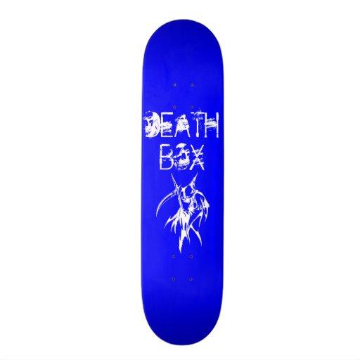 Blue with White Death Box Skateboard Deck