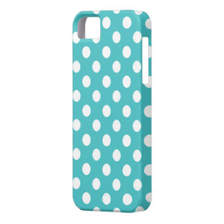 Blue With White Polka Dot iPhone 5 Case iPhone 5 Cover