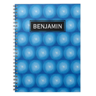 Blue With White Polka Dots Pattern Notebooks