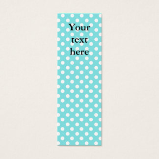 Blue with white polkadots mini business card