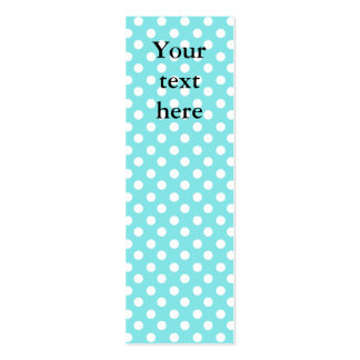 Blue with white polkadots pack of skinny business cards