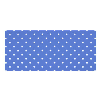 Blue with white stars. Pattern. Custom Rack Cards