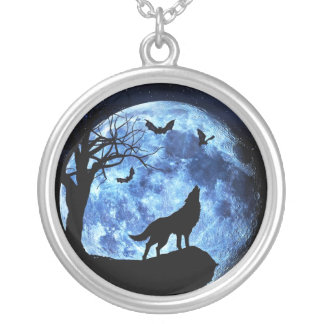 blue wolf moon necklace