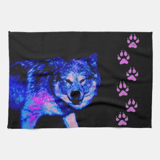 Blue Wolf Tea Towel