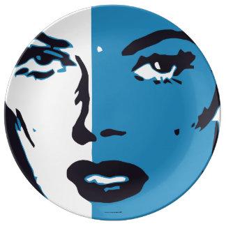 Blue Woman Face Plate