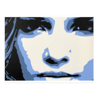 BLUE WOMAN POSTCARD