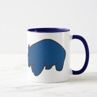 Blue Wombat Ceramic Mug