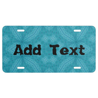 Blue wood abstract pattern license plate