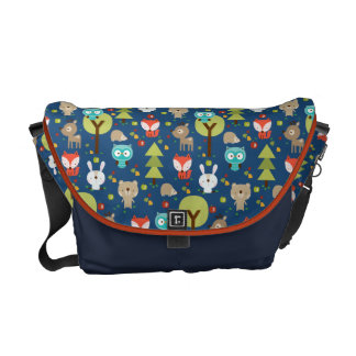 Blue Woodland Friends Diaper Bag Commuter Bag