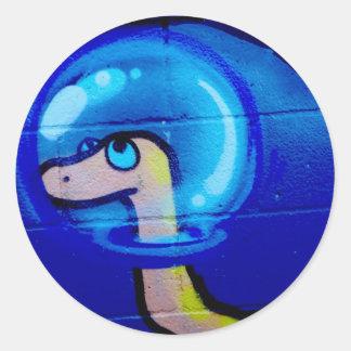 blue worm sticker