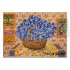"""""""Blue Wysteria w/ Onion,"""" by Nina Beall Card"""
